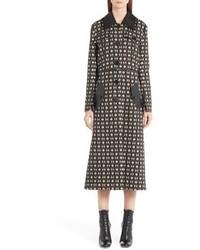 Fendi Double Face Wool Silk Coat With Zip Off Hem