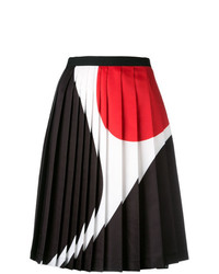 Neil Barrett Geometric Print Pleated Skirt