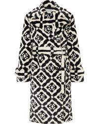 Mary Katrantzou Stokes Printed Faux Fur Coat