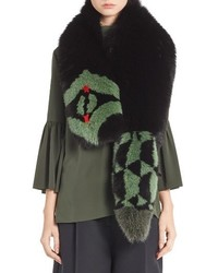 Fendi Puzzle Genuine Fox Fur Stole