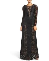 BCBGMAXAZRIA Veira Illusion Lace Gown