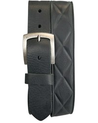 James Campbell Embossed Leather Belt
