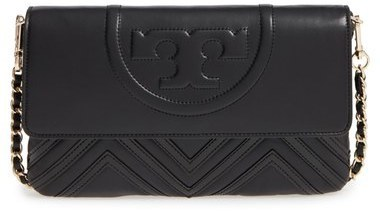 9cdef5f5643c ... Tory Burch Fleming Geo Convertible Leather Clutch ...