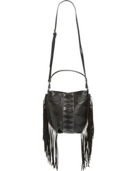 Steve Madden B Hutch Faux Leather Crossbody Bag Black