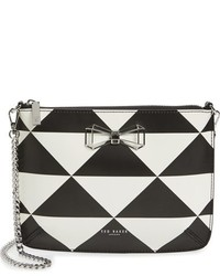 Ted Baker London Adelee Geo Print Leather Crossbody Bag Black