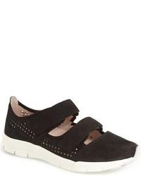 Black Geometric Leather Slip-on Sneakers