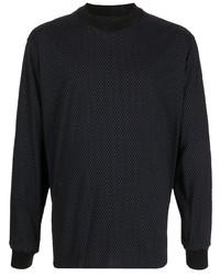 Giorgio Armani Geometric Print Long Sleeve T Shirt