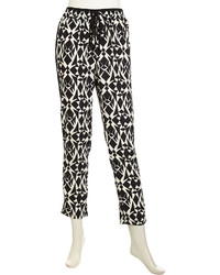 Romeo & Juliet Couture Printed Voile Relaxed Pants Blackwhite