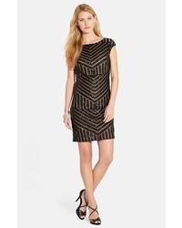 Geo sequin sheath dress medium 128416