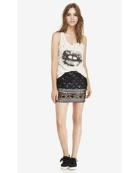 Express Sequin Diamond Mini Skirt