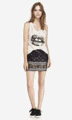 Express Sequin Diamond Mini Skirt | Where to buy & how to wear