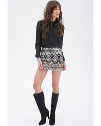 Forever 21 Tribal Inspired Sequin Skirt