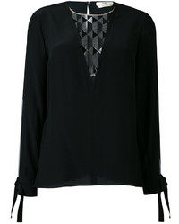 Fendi Sheer Panel Blouse