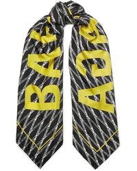 Balenciaga Printed Silk Twill Scarf