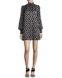 Marc Jacobs Geometric Floral Silk Jacquard Shift Dress