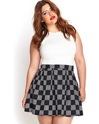 Forever 21 Checkered Skater Skirt