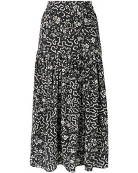 Isabel Marant Geometric And Floral Print Skirt