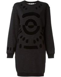 McQ by Alexander McQueen Mcq Alexander Mcqueen Tribal Markings Flock Sweatshirt Dress