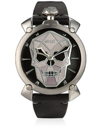 GaGa MILANO Bionic Skull Steel Watch