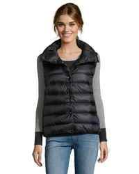 Moncler Black Quilted Nylon Down Puffer Vest