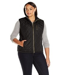 Calvin Klein Plus Size Center Zip Quilted Vest