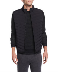 Theory Corick Lightweight Puffer Vest Black