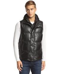 Sean John Faux Leather Puffer Vest