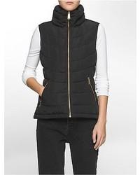 Calvin Klein Gold Hardware Puffer Vest Jacket