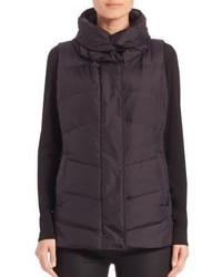 Eileen Fisher High Collar Puffer Vest