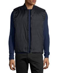 Theory Jalt Nylon Puffer Vest Black