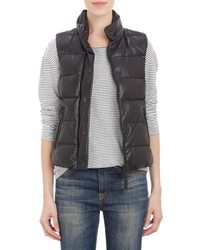 Mackage Leather Puffer Vest Black