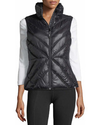 Marc Ny Performance Chevron Print Stand Collar Puffer Vest