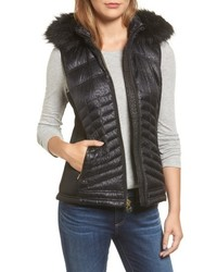Michl michl kors faux fur trim down vest medium 4952613