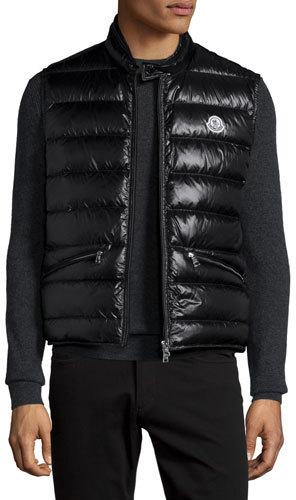 ... Gilets Moncler Moncler Lightweight Puffer Down Vest, Black
