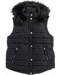 H&M Padded Vest Black Ladies