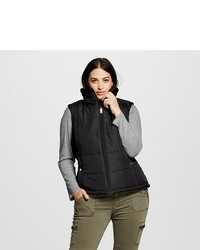 KC Collections Plus Size Reversible Faux Fur Line Puffer Vest