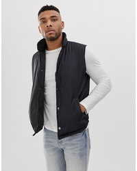 ASOS DESIGN Puffer Gilet In Black