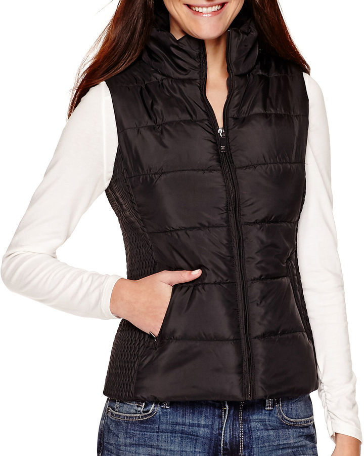 6a12d28521ebc Liz Claiborne Puffer Vest Tall, $80 | jcpenney | Lookastic.com