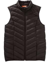 Joe Fresh Quilted Chevron Puffer Vest Light Grey