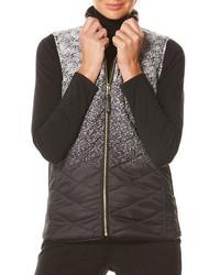 Rafaella Raflla Static Ombre Printed Puffer Vest