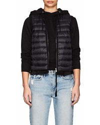 Moncler Ruffled Hem Down Quilted Vest