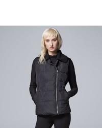 Simply Vera Vera Wang Sherpa Collar Puffer Vest