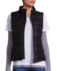 Monrow Vegan Leather Puffer Vest
