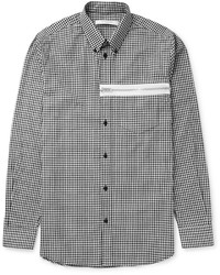 Givenchy Slim Fit Button Down Collar Gingham Cotton Poplin Shirt