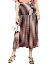 Topshop Dixie Check Midi Skirt