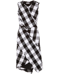 62d32b6371f Altuzarra Gina Gingham Wool Blend Twill Dress