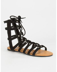 Bamboo Ghillie Gladiator Sandals