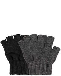 H&M 2 Pack Fingerless Gloves