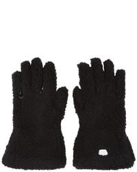 Stella McCartney Black Faux Fur Gloves