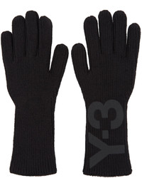 Y-3 Black Logo Gloves